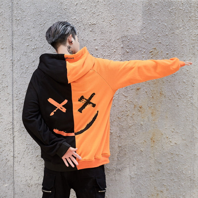 karisland Orange / S Double Faced Hoodie - karisland