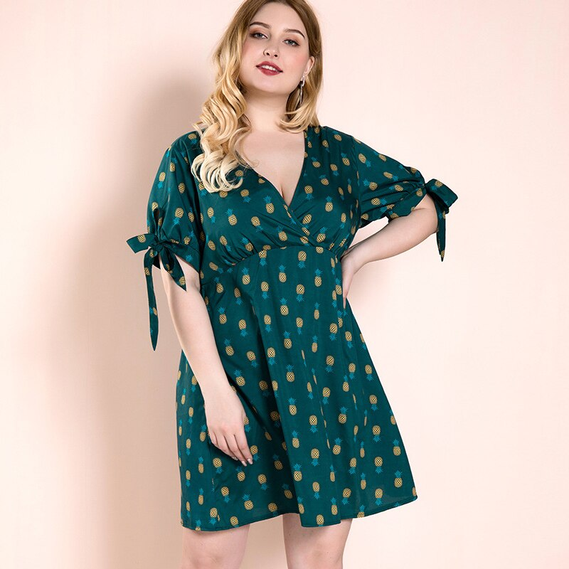 karisland Green dress / XL Pineapple Printed - karisland