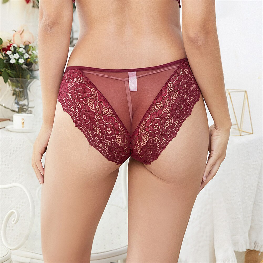 Solid Women's Panties Comfort Underwear Skin-friendly Briefs For Women Sexy Low-Rise Panty Intimates