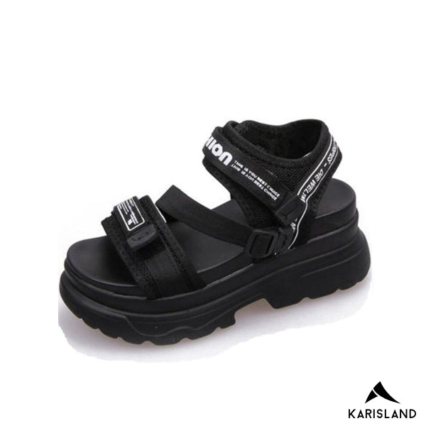 karisland black / 4.5US / 35EU Beach Leather Sandals - karisland