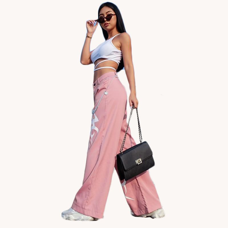 Anastasia Pink Loose Baggy Printed Wide Leg Pants