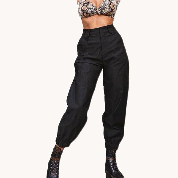 karisland Julia White Black Zipper Pockets Harem Pants - karisland
