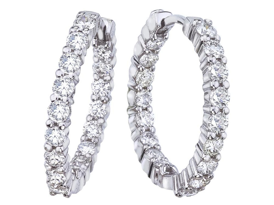 Roberto Coin 23mm Perfect Inside and Out Diamond Hoops