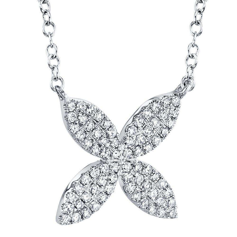 Shy Creation Diamond Flower Necklace