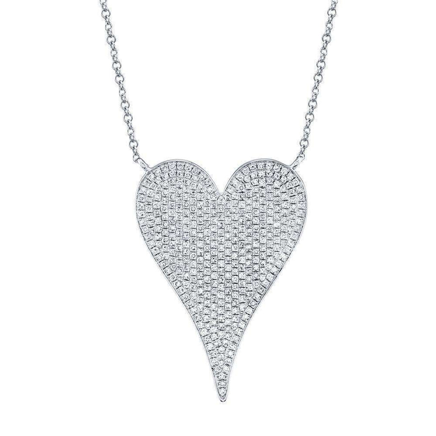 Shy Creation 0.83CT Diamond Heart Necklace