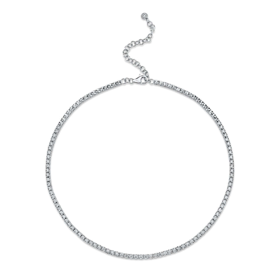 Shy Creation 2.49CTW Diamond Line Necklace