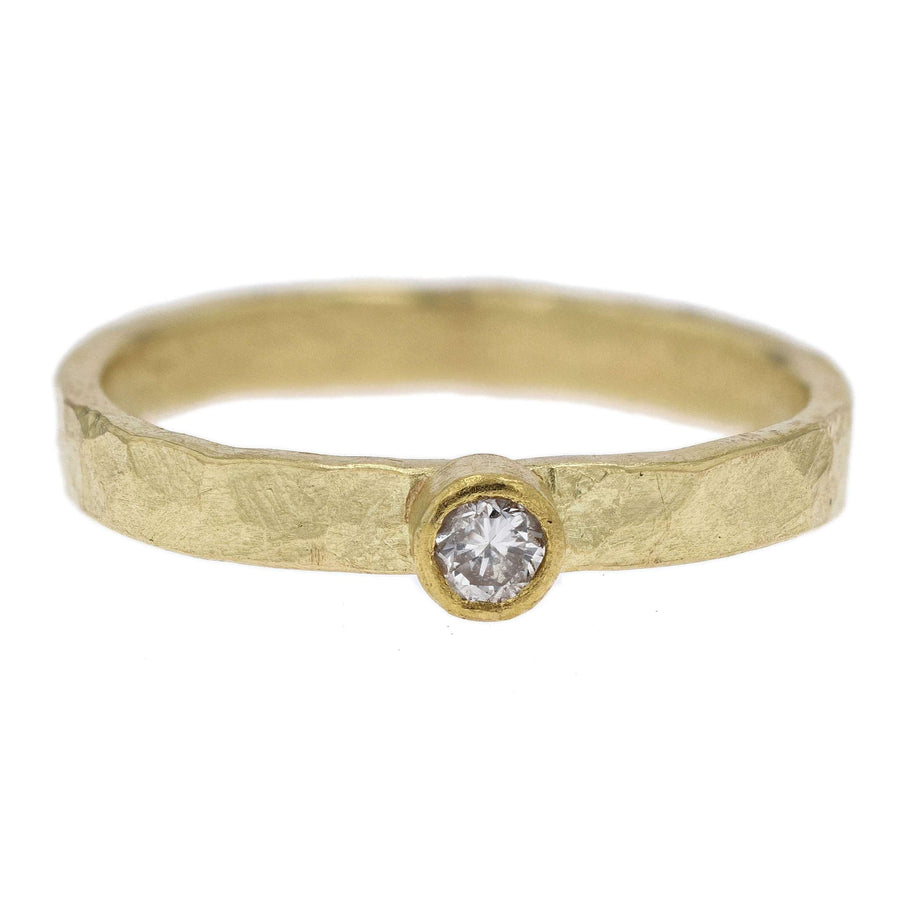 Petra Class Bezel Diamond Yellow Gold Ring