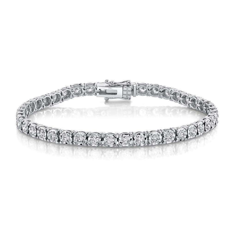 Shy Creation 3.00CTW Diamond Tennis Bracelet