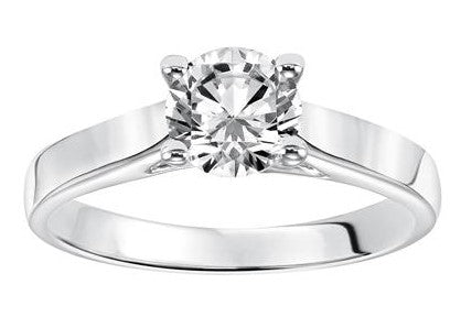 Frederick Goldman Solitaire Four Prong Engagement Ring