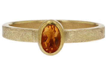 Petra Class Yellow Sapphire Oval Ring