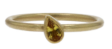 Petra Class Pear Shaped Yellow Sapphire Ring