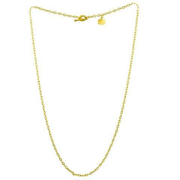 Lika Behar All Gold Thick  Rolo Chain with Toggle Clasp 26