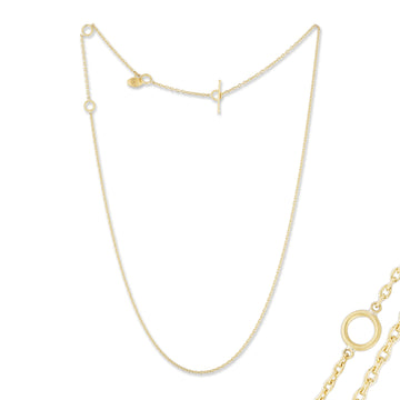 Lika Behar All Gold Rolo Chain for Pendants with Toggle Clasp