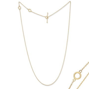 Lika Behar All Gold Rolo Chain Necklace