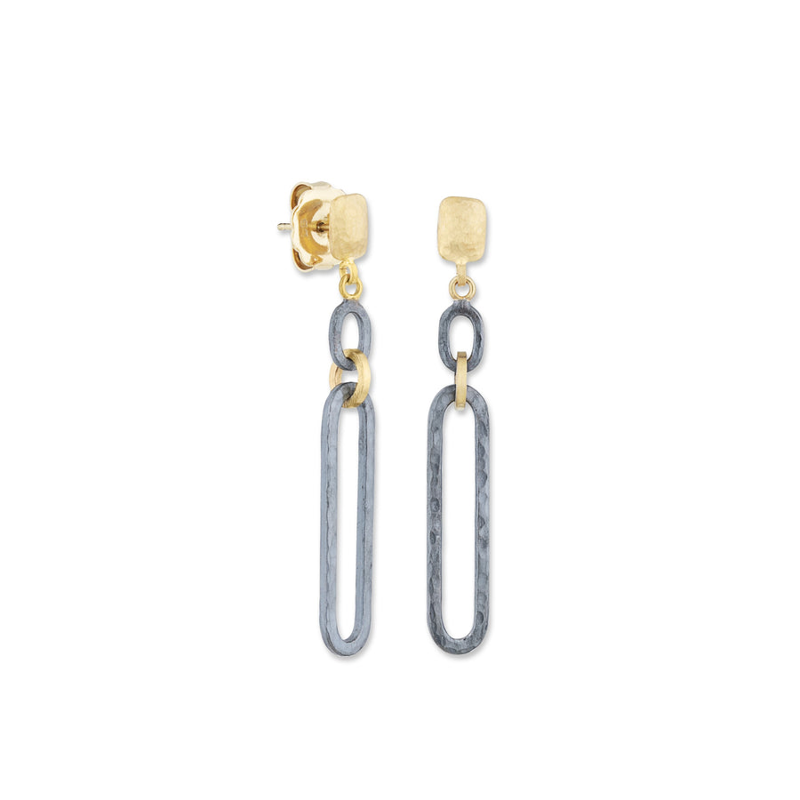 Lika Behar Chill Link Oxidized Dangle Earrings