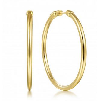 Luxeout Yellow Gold Tube Hoops