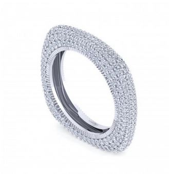 Luxeout Quattro Squared Diamond Stackable Ring