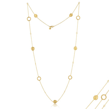 Lika Behar Gold Roundabout Diamond Station Necklace