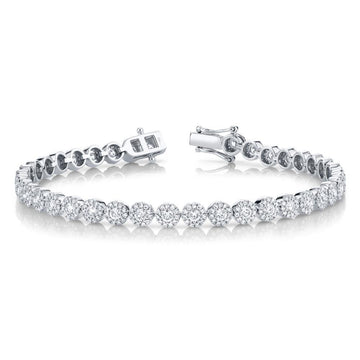 Shy Creation 3.03CTW Diamond Tennis Bracelet