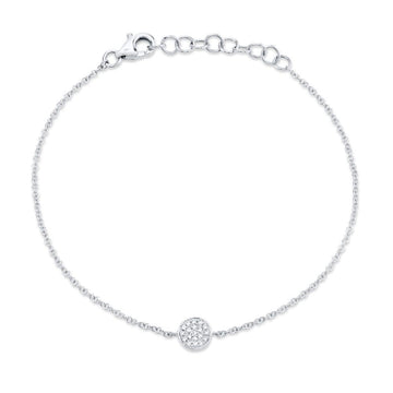 Shy Creation .05CTW Diamond Pave Circle Bracelet