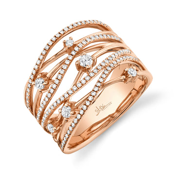 Shy Creation 0.49CTW Diamond Bridge Ring