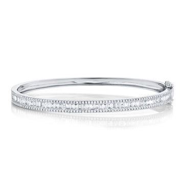 Shy Creation 1.74CTW Diamond Baguette Bangle Bracelet