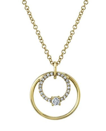 Shy Creation .11CTW Diamond Circle Necklace