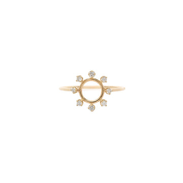 Zoe Chicco Circle Ring Surrounded by Prong Diamonds  Ring