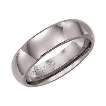 Artcarved Bright Titanium Wedding Band