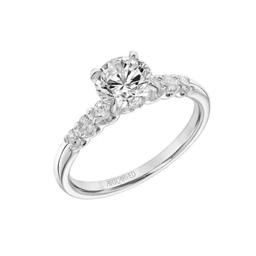 Artcarved Diamond Side Stone Engagement Ring