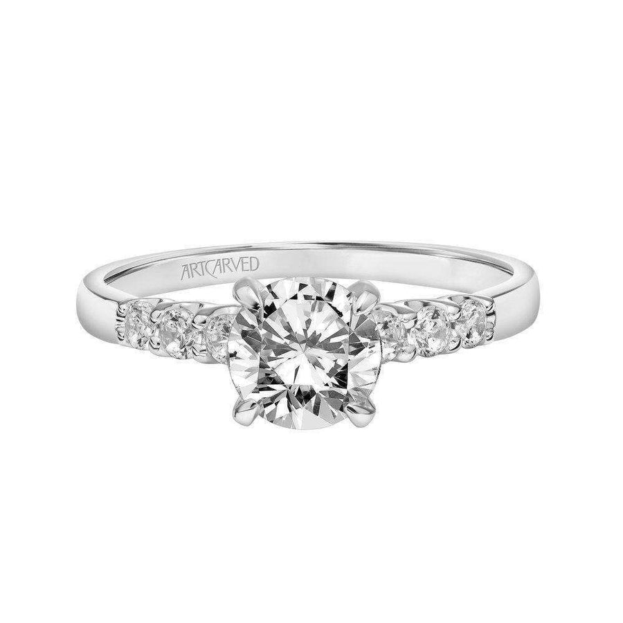 Artcarved Diamond Side Stone Engagement Ring top