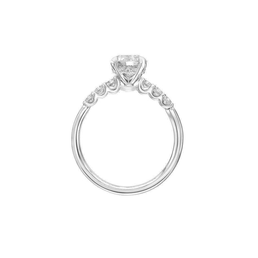 Artcarved Diamond Side Stone Engagement Ring profile
