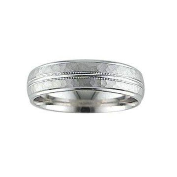 Artcarved Hammered Wedding Band