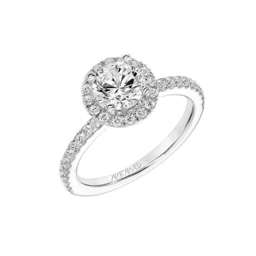Artcarved Round Halo Diamond Engagement Ring