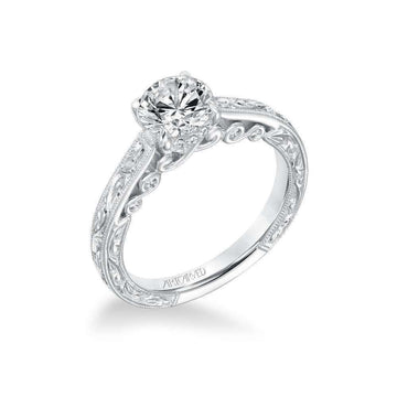 Artcarved Vintage Filigree Diamond Engagement Ring