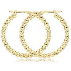 Carla | Nancy B. Medium Beaded Hoop Earrings