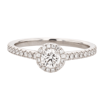 Forevermark Black Label Round Halo Diamond Engagement Ring