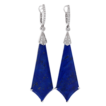 Frederic Sage Fan Shaped Lapis Dangles