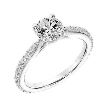 Frederick Goldman Pinched Shoulder Diamond Engagement Ring