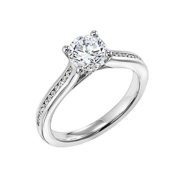 Frederick Goldman Princess Cut Diamond Engagement Ring