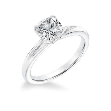 Frederick Goldman Split Shoulder Solitaire Diamond Engagement Ring