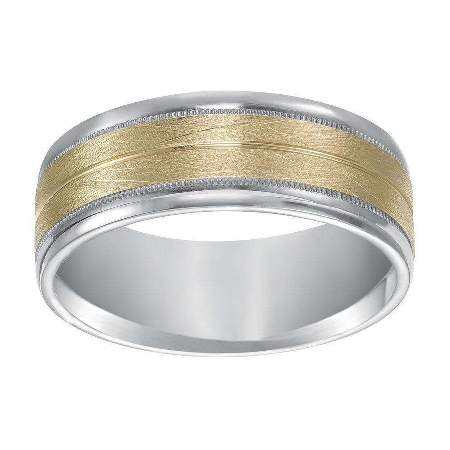 Frederick Goldman Two-Tone Milgrain Band