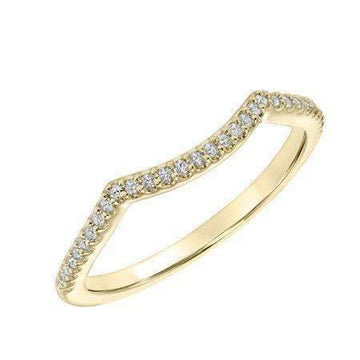 Goldman Curved Diamonds Fitted Wedding Band