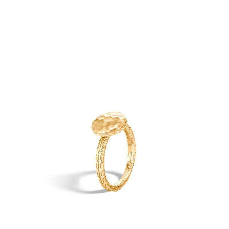 John Hardy 18k Gold Dot Hammered Ring