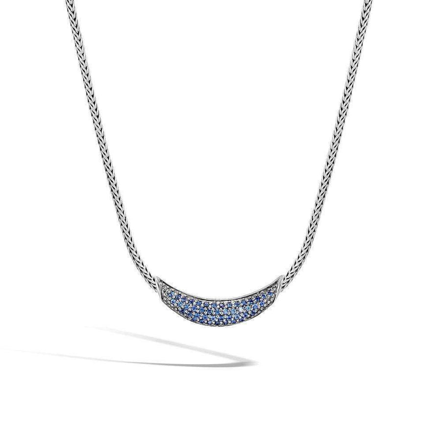 John Hardy Classic Chain Necklace with Blue Sapphire
