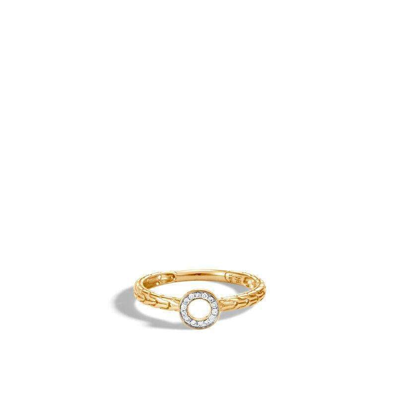 John Hardy Dot Diamond Pave Circle Ring