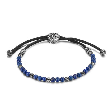 John Hardy Men's Classic Chain Pull Through Bead Bracelet with Lapis Lazuli