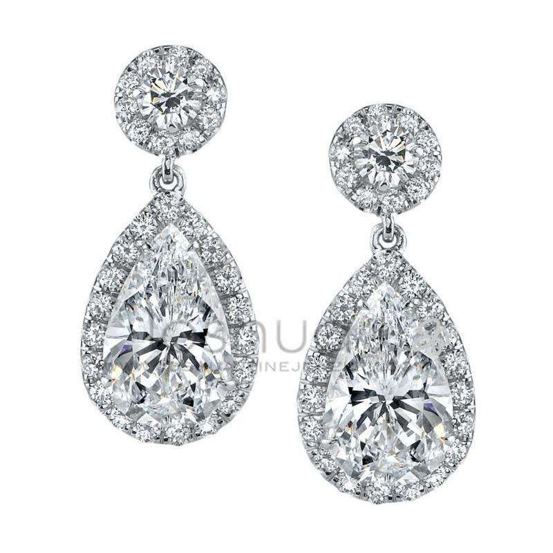 Joshua J Diamond Dangle Earrings