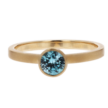 Kimberly Collins Blue Zircon Ring
