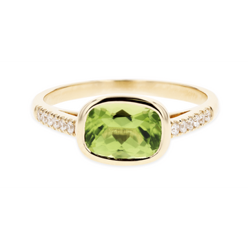 Kimberly Collins Cushion Peridot Ring